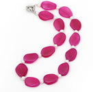 珍珠粉玛瑙项链 简约单层款