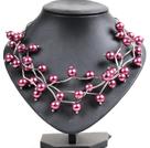紫红色贝壳珠时尚项链
