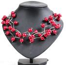 红色贝壳珠时尚项链