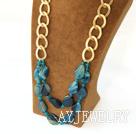 蓝玛瑙项链毛衣链