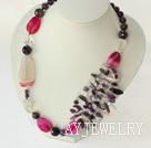 紫晶粉玛瑙项链