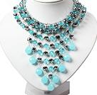 蓝水晶项链 礼服款