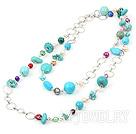 珍珠松石项链