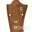 染色珍珠贝壳项链毛衣链
