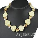 珍珠水晶柠檬石项链