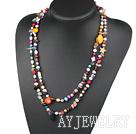 珍珠水晶贝壳项链毛衣链