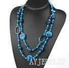 水晶蓝玛瑙项链毛衣链