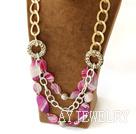 粉玛瑙项链
