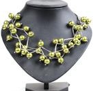 黄绿色贝壳珠时尚项链