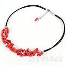 珍珠红珊瑚项链