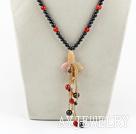 黑珍珠红玛瑙项链