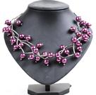 紫色贝壳珠时尚项链