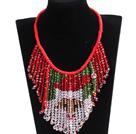 圣诞老人奢华水晶编织项链
