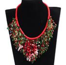 圣诞水晶编织项链