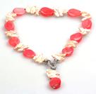 琵琶珍珠玛瑙项链