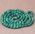 深绿色帝皇石长款项链