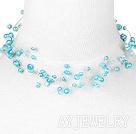 蓝珍珠项链