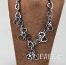 染色珍珠贝壳项链