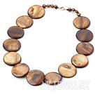 珍珠贝壳项链(龙虾扣)