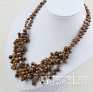 染色珍珠木变石项链