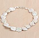 A级白色再生珍珠项链