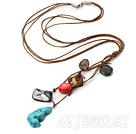 七彩杂石项链