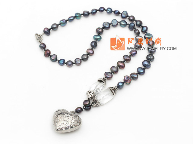 黑珍珠水晶项链