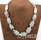 珍珠天山石项链