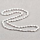 灰色巴洛克珍珠长款项链