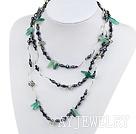 珍珠水晶绿玛瑙项链毛衣链