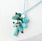 珍珠水晶松石项链