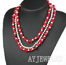 红珊瑚珍珠项链