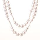 天然白色珍珠项链 120CM长款