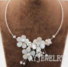 白色珍珠贝壳项链
