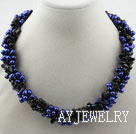 宝蓝色珍珠黑玛瑙项链
