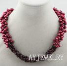 染色珍珠石榴石项链
