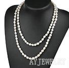 巴洛克白珍珠项链毛衣链