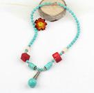松石珊瑚项链