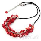珍珠珊瑚项链