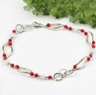 红珊瑚白砗磲项链(花状龙虾扣)