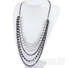亚克力珍珠水晶项链毛衣链