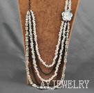 时尚水晶金属项链毛衣链