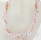 珍珠粉晶蛋白石项链