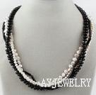 黑白珍珠黑玛瑙项链