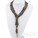 花绿石珍珠项链毛衣链