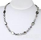 珍珠水晶贝壳项链