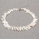 白色偏孔再生珍珠项链