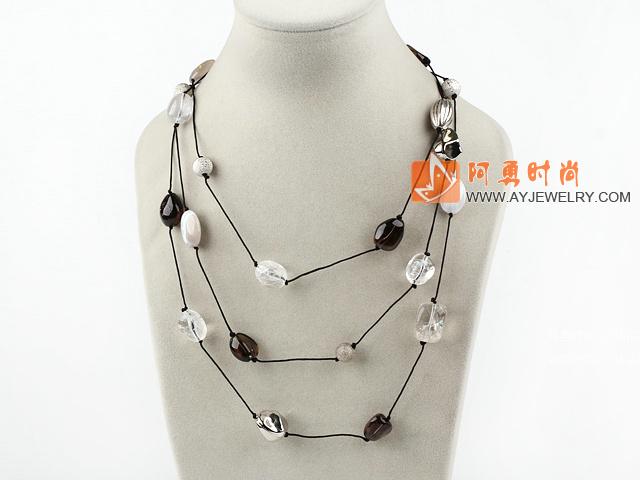 水晶玛瑙项链毛衣链