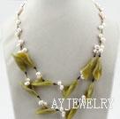 珍珠橄榄石项链