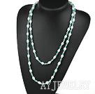 珍珠松石项链毛衣链